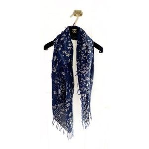 Abercrombie & Fitch Floral Embroidered Scarf Wrap